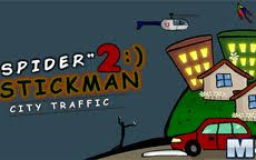 Spider Stickman 2 City Traffic